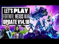 Let's Play Fortnite: Nexus War Update V14.10 - EXPLORING STARK INDUSTRIES!