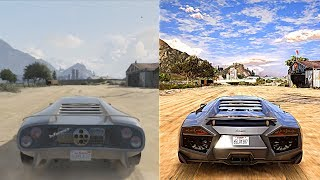 ►GTA 5 Xbox 360 vs Ultra Realistic 4K 60FPS PC Graphics | 2018 REDUX Gameplay!