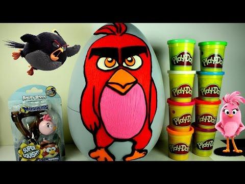 Play Doh Enorme Arrabbiato Uccello Film Sorpresa Uovo Riempito con i Giocattoli