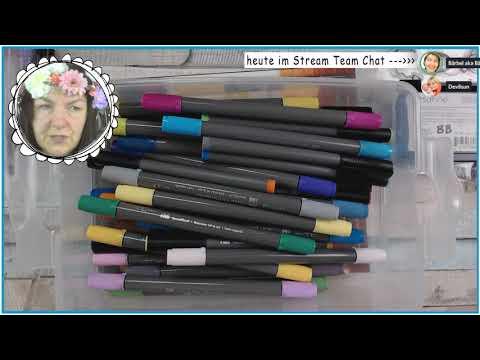 Motivstempel colorieren || Livestream mit Aquarellbuntstiften, ZIG clean color und Prismacolor