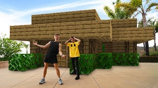 We Built a Life Size Minecraft House