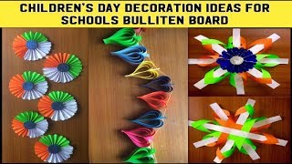 Origami Craft Papers Decoration Ideas For Schools Bulliten Board