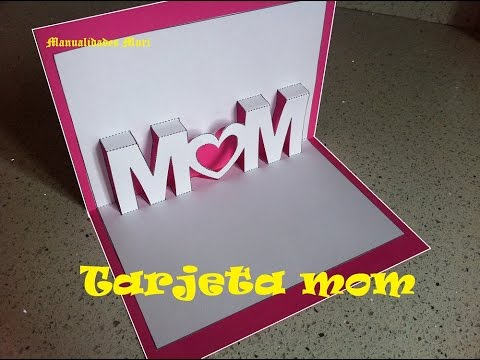Kirigami Pop Up κάρτα για τη γιορτή της μητέρας