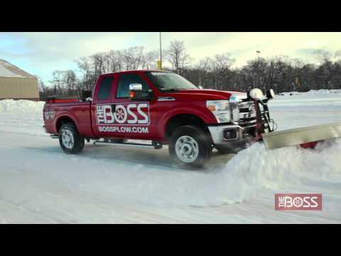 The BOSS Super Duty Snowplow in Action