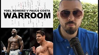 #UFC241 #WARROOM YOEL ROMERO VS PAULO COSTA - DAN HARDY BREAKDOWN EP. 5