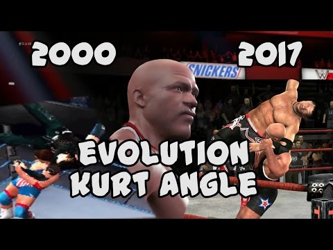 The Evolution of Kurt Angle from Smackdown 2 to WWE 2K17.