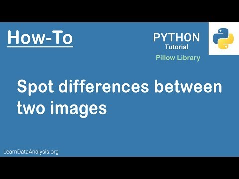 How to compare two images and display the differences using Python (Hint: Pillow)