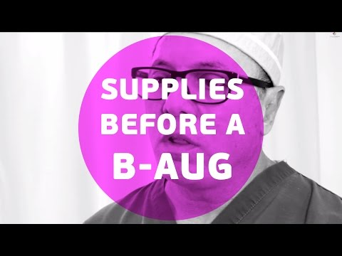 What supplies do you need before a breast augmentation?