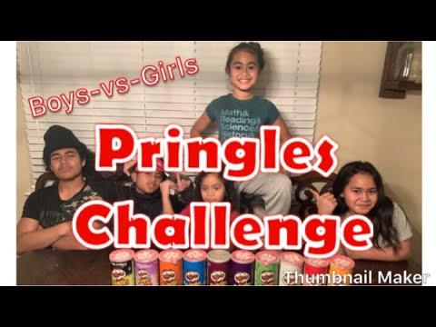 Pringles Challenge | Boys-vs-Girls | So fun!