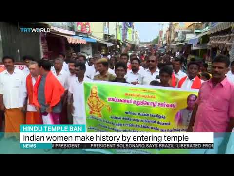 Indian women defy ban by entering Hindu temple