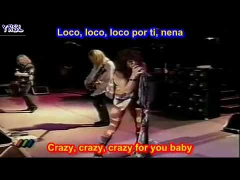 Aerosmith - Crazy   ( SUBTITULADA  EN  ESPAÑOL &  INGLES   LYRICS  LETRAS SUB)