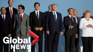 """G7 summit: World leaders pose for """"family photo"""" in Biarritz"""