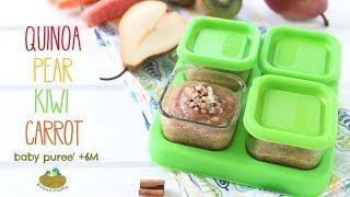 Quinoa Kiwi Pear Carrot Baby Puree +6M