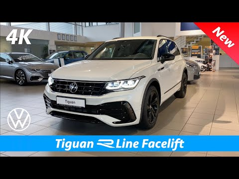 Volkswagen Tiguan R Line 2021 - FIRST Look in 4K | Exterior - Interior (Oryx White Pearl Effect)