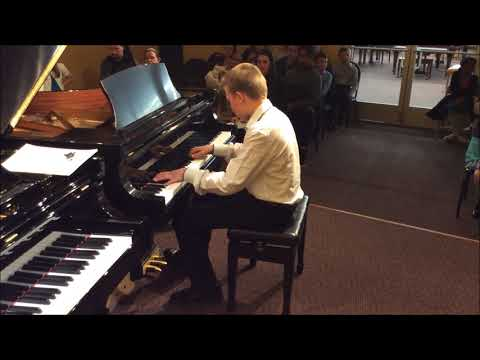 Student Plays Moonlight Sonata by Beethoven