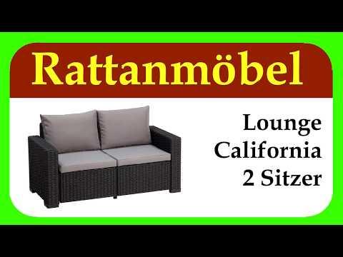 Lounge California Sofa  | schöne Rattanmöbel für Deinen Garten