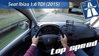 Seat Ibiza 1.6 TDI (2015) On German Autobahn - POV Top Speed Drive