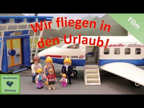 Playmobil Film Deutsch WIR FLIEGEN IN DEN URLAUB - FLUGHAFEN ♡ Playmobil Geschichten mit den Miller