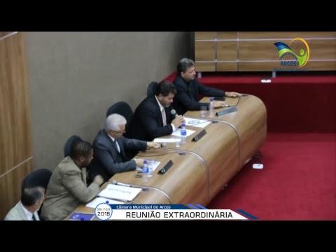 Reunião Ordinária (26/02/2018) - Câmara de Arcos