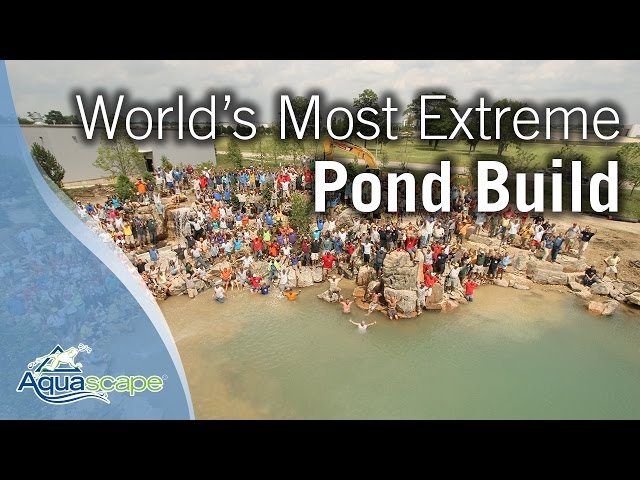 World's Most Extreme Pond Build Finale 1