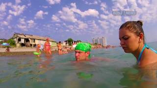 Туристы из Владимира на Лазаревском пляже