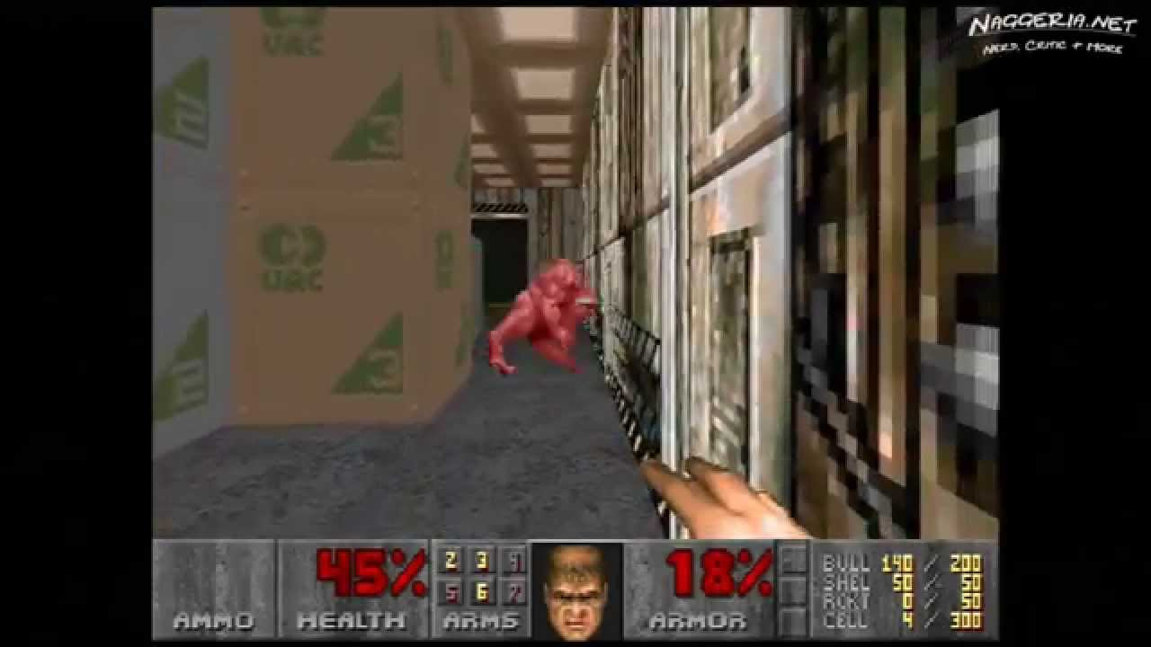 "Doom (E2M2 ""Containment Area"") Walkthrough – Ultra-Violence"