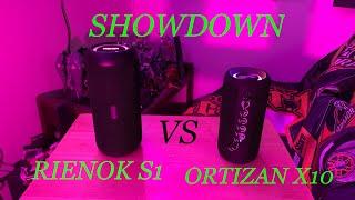 RIENOK vs ORTIZAN BLUETOOTH WATERPROOF SPEAKER   REVIEW SHOWDOWN