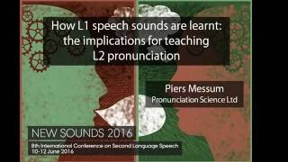 How L1 speech sounds are learnt - part 2 (Piers Messum)