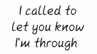 Maroon 5- Through With You lyrics