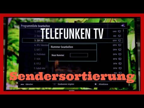 Telefunken TV Sender Sortieren Tutorial
