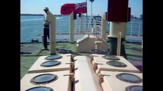 preview picture of video 'SS 'Shieldhall' engine room, steering gear and passing cruise ships'