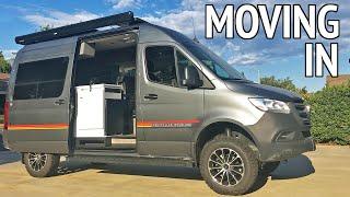 Moving in to a Storyteller Overland Sprinter 4x4 Camper | Van Life S2:E20