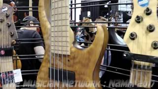 NAMM 2017 - MTD - Michael Tobias Designs - Absolutely Beautiful Bass Guitars!