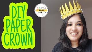 How To Make PAPER CROWN? | Easy Paper DIY | How To Make King And Queen Paper Crown | Just Craft