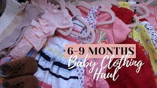 BABY CLOTHING HAUL || CARTERS, GAP, TARGET, AMAZON || 6 9 MONTHS || Jill Sanchez