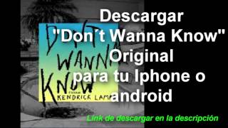 Download Don´t Wanna Know Maroon 5/ Descargar Don´t Wanna Know original
