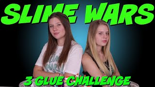 SLIME WARS 3 GLUE CHALLENGE || Taylor and Vanessa