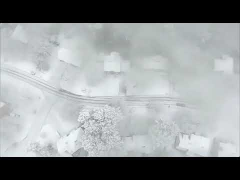RAW:  NewsDrone 2 captures beautiful snow video in Kennesaw