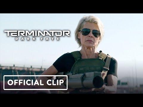 "Terminator: Dark Fate Clip - ""Sarah Connor's Entrance"" Official Clip"