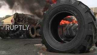 France: Workers torch tyres at GM&S plant in anger at lack of progress