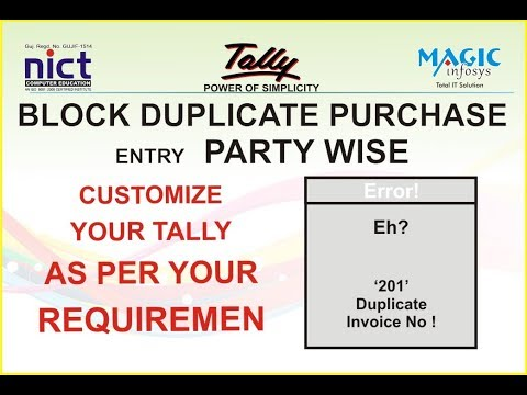Stop Duplicate Purchase Entries | Explore Busy | Tally TDL