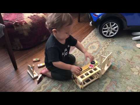 Little Claudio Plays - Melissa & Doug Whittle World Wooden School Bus Set Play Review