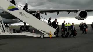 Сборная Португалии/ Прилетели в Аэропорт/ Роналду