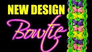 NEW Rainbow Loom Design - BOWTIE Bracelet HD