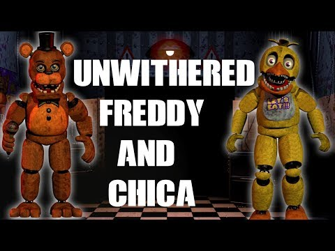 DC2/FNAF) Unwithered Freddy x Unwithered Chica - смотреть