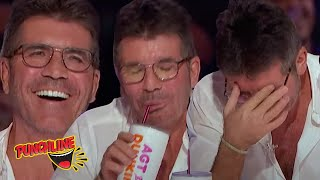 HE'S SO FUNNY HE MAKES SIMON COWELL SPIT HIS DRINK OUT! 80 Year Old Comedian AMERICA'S GOT TALENT