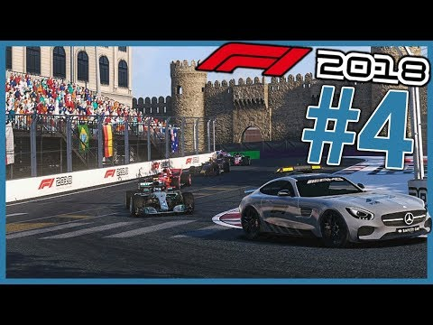 2. LAP. SHOOTOUT! | F1 2018 Williams Career Mode Ep. 4 | Azerbaijan Grand Prix