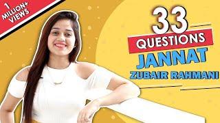 33 Questions Ft. Jannat Zubair Rahmani | Dance Move, Favourite Food & More