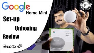 Google Home Mini Unboxing ,Setup & Review ll in telugu ll