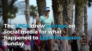 Golfers, Social Media Slam Penalty Called On Lexi Thompson By TV Viewer
